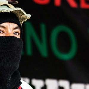 Comandante Tacho, pictured, affirmed the Zapatistas solidarity with Palestine, during the opening of the National Indigenous Congress in the Zapatista Stronghold of La Realidad, Chiapas, in August, 2014. (Photo: pvangels.com/ Report: narconews.com)