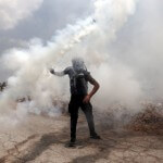Tear gas in Bil'in during an undated demonstration