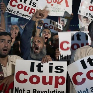 Supporters of Egypt's ousted President Mohammed Morsi chant slogans against Egyptian Defense Minister Gen. Abdel-Fattah el-Sissi, Sunday, July 28, 2013.  (Photo: AP Photo/Hassan Ammar)