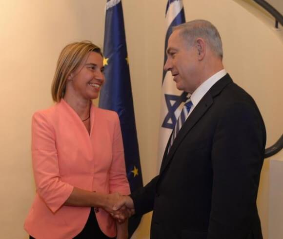 Netanyahu and EU official Federica Mogherini
