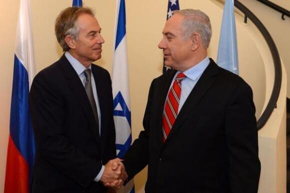 Tony Blair and Netanyahu, May 2015