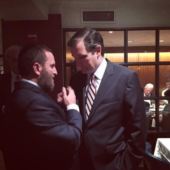 Shmuley Boteach with Ted Cruz at gala, June 2 2015