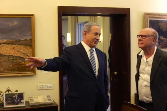 Netanyahu and Art Garfunkel June 2105