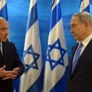 Stephane Richard and Netanyahu today