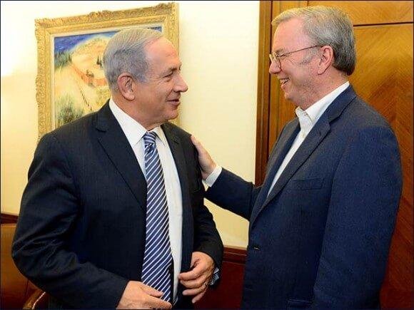 PM Netanyahu with Google Executive Chairman Eric Schmidt in Jerusalem