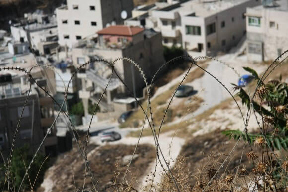 View of Issawiya from Mount Scopus. (Photo: Lauren Surface)