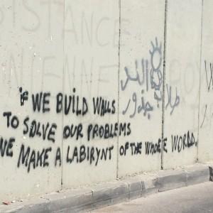 Graffiti on the separation wall in East Jerusalem. (Photo: Yarden Katz)