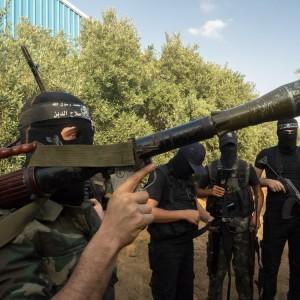 Al-Nasser Salah al-Din Brigades fighters prepare to begin training exercises. (Photo: Dan Cohen)