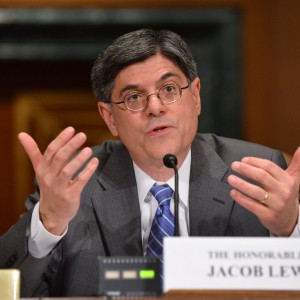 Kevin Dietsch photo of Jacob Lew, treasury secretary