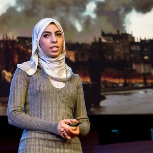 Eman Mohammed, at a Ted Talk