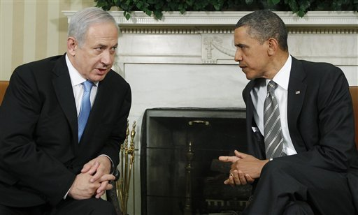 Netanyahu lectures Obama in 2011