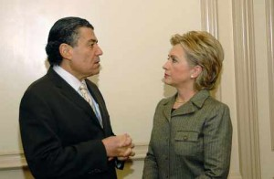 Saban and Clinton, on an earlier occasion