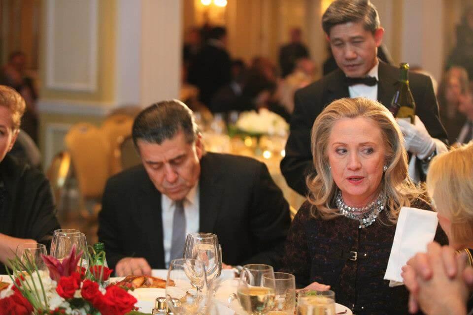 Saban and Clinton, undated image