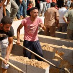 Funeral of eight members of the Abu Jarad family in Beit Hanoun, July 19, 2014