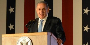 Netanyahu at the American Embassy yesterday for July 4th party