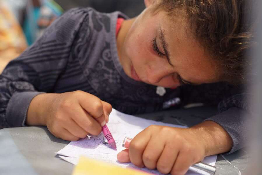 Children of Susiya make 'Pinwheels for Peace' when bulldozers arrive - July 3rd - Photo: CPT Palestine