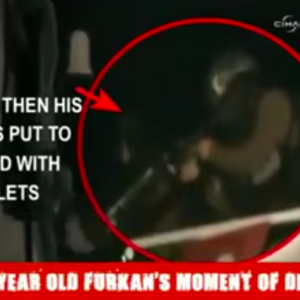 Screenshot: The assassination of Furkan Dogan by Israeli soldiers onboard the Mavi Marmara, May 31, 2010. An autopsy revealed he had suffered five gunshot wounds, to the nose, back, back of the head, left leg, and left ankle at a distance of 45 centimeters. A UNHCR concluded he was also shot at after he fell wounded on the floor. He was shot when he was filming the events in the ship. A video from İHH shows Dogan being shot by soldiers.