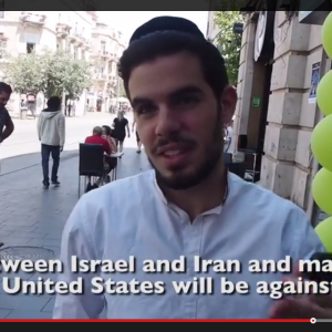 Young man in Jerusalem who foresees war with Iran and return of messiah