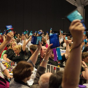 Members vote during the United Church of Christ General Synod 2015 in Cleveland. (Photo: United Church of Christ via Flickr)