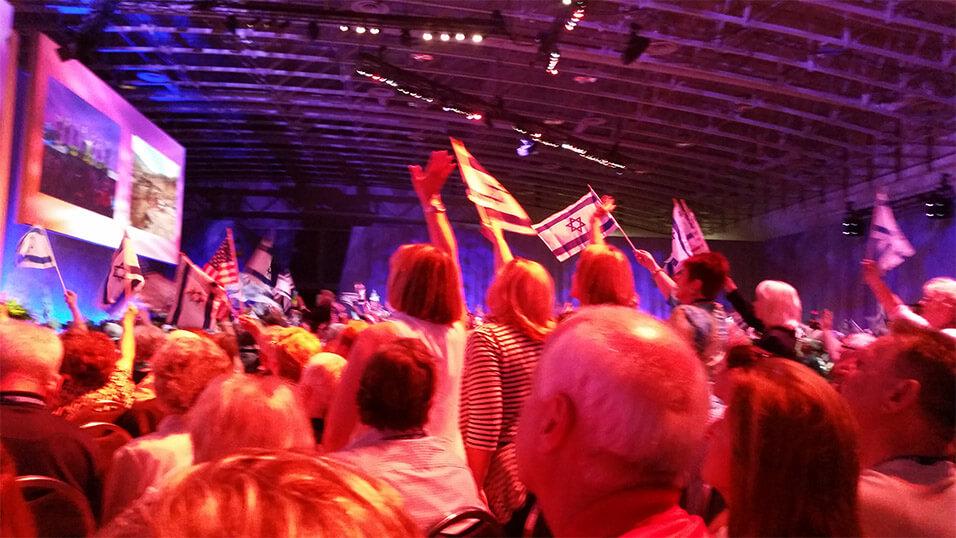 cufi israel flag waving