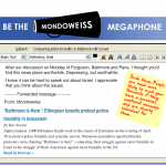 There is a new way to share the news you read on Mondoweiss -- the weekly Mondoweiss newsletter.