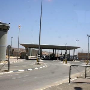 Qalandiya checkpoint, from the Jerusalem side