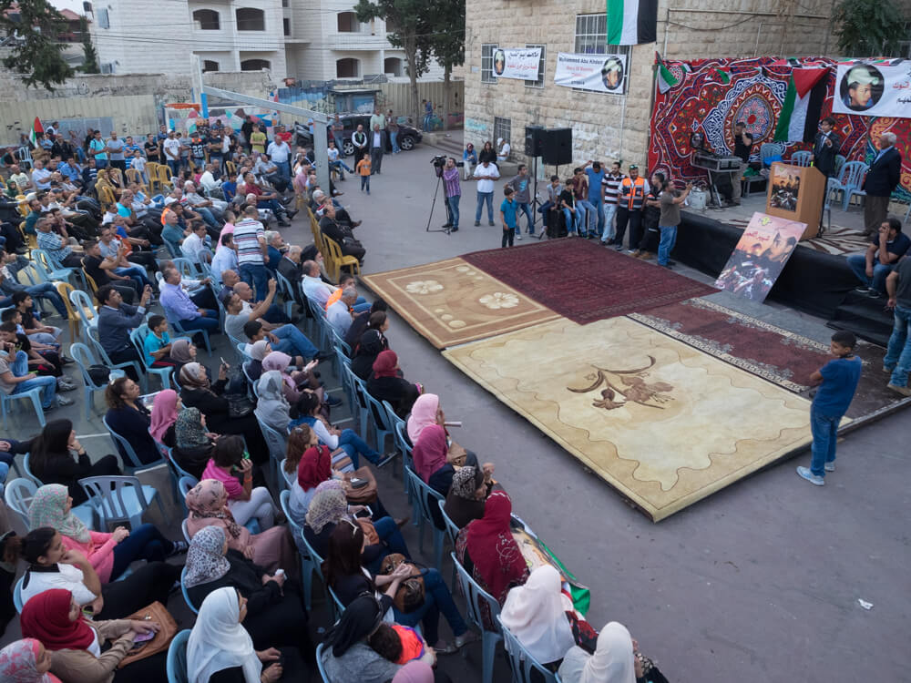 Hundreds gathered in Shuafat to commemorate the murder of Mohammed Abu Khdeir. (Photo: Dan Cohen)