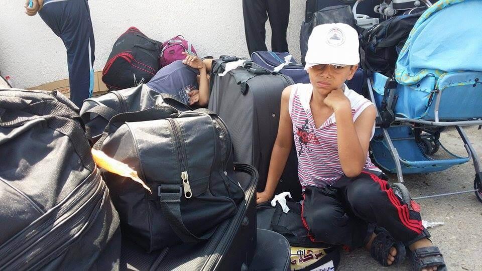 Waiting at the Rafah Crossing. (Photo: Isra Saleh El-Namy)