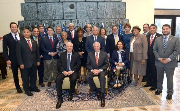 Democratic congresspoeple meeting Israeli president August 5, 2015