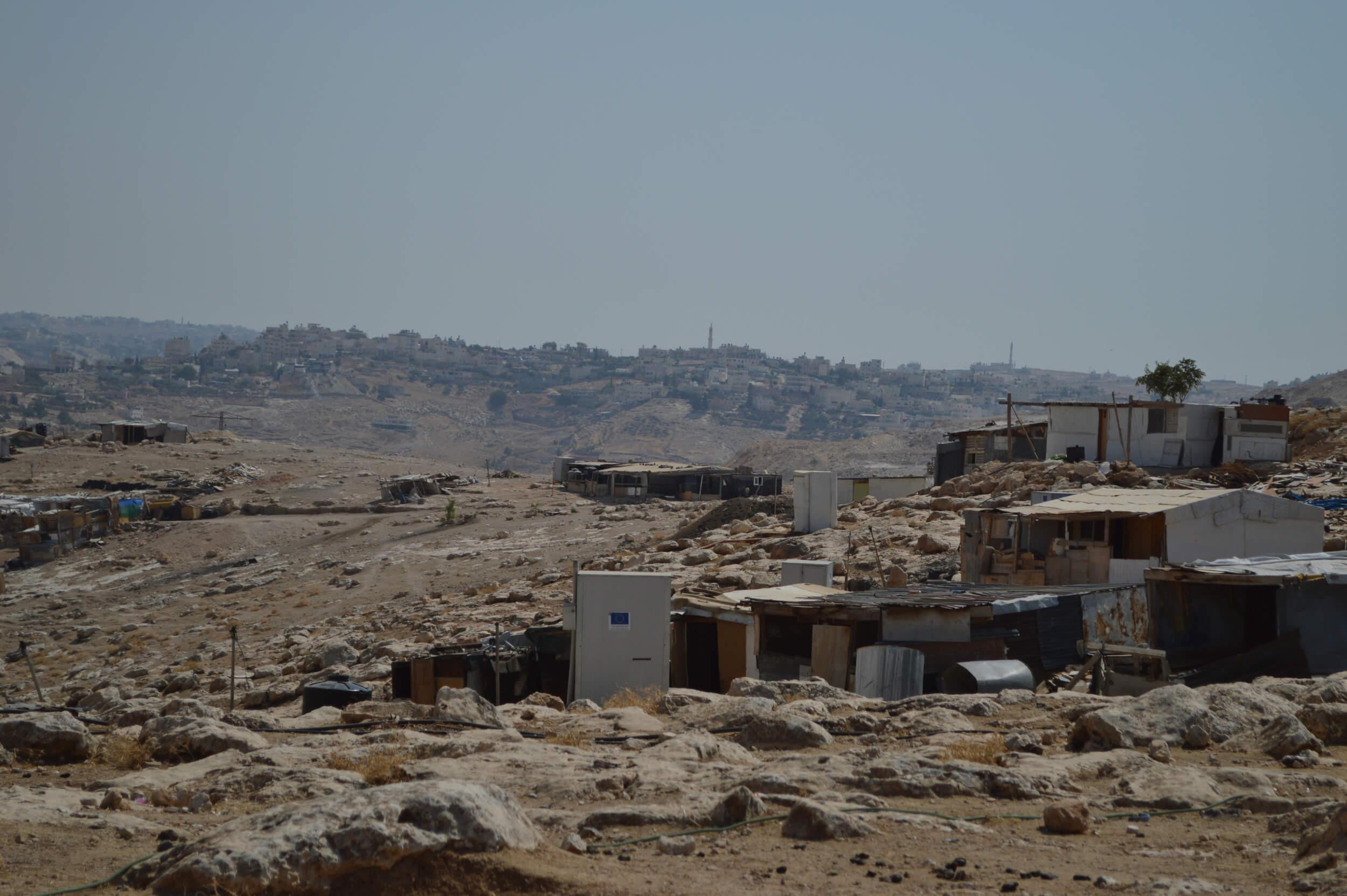 Abu Nuwwar in the foreground and Ezariya and al-Jabal in the background. (Photo: Lydia Noon)