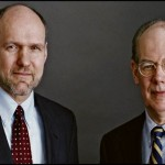 Stephen M. Walt (l) and John J. Mearsheimer