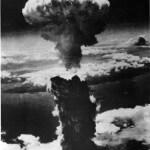 Aerial view of Nagasaki bomb