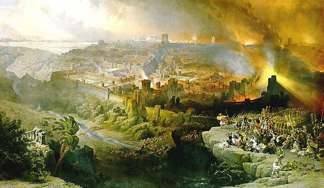 The siege and destruction of Jerusalem, by David Roberts