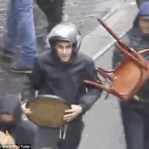 Terrorist organization Jewish Defense League on the streets of Paris July 13. 2015 -Screenshot Khalid Ibn Walid/Daily Mail