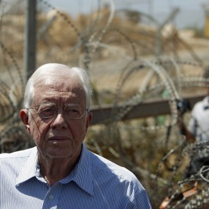 Jimmy Carter in the West Bank (Photo: Reuters)