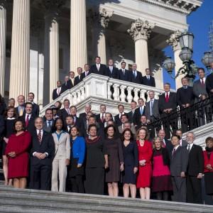 The freshman class for the 114th Congress. (Photo: Tom Williams/CQ Roll Call)