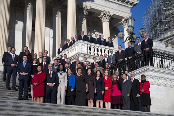 The freshman class for the 114th Congress. (Photo: Tom Williams/CQ Roll Call)