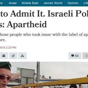 haaretz israel apartheid