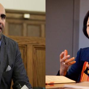 Steven Salaita and Phyllis Wise