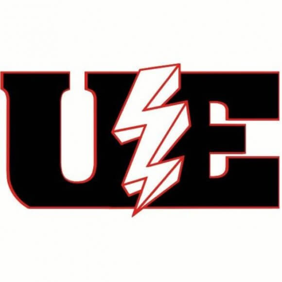 Logo of the United Electrical Workers union (UE).