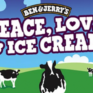 Ben & Jerry's peace and love brand