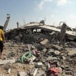 "Damage from ""Black Friday"" in Rafah. (Photo: Isra Saleh El-Namy)"