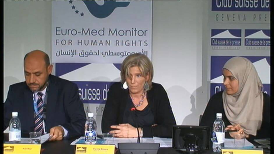 Euro-Mediterranean Human Rights Monitor press conference in Geneva. October 16,2015