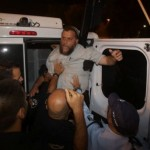 Bentzi Gopstein, head of the far-right Lehava organization, arrested in Jerusalem protest after day of terror attacks throughout Israel. October 8, 2015. (Photo: Olivier Fitoussi)
