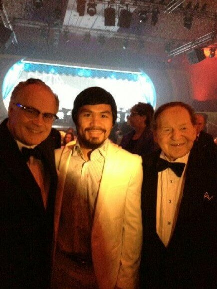Phil Rosen, Manny Pacquiao and Sheldon Adelson