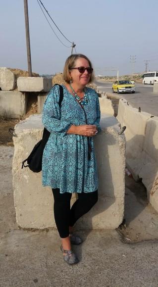 Jennifer Bing at the Gaza border