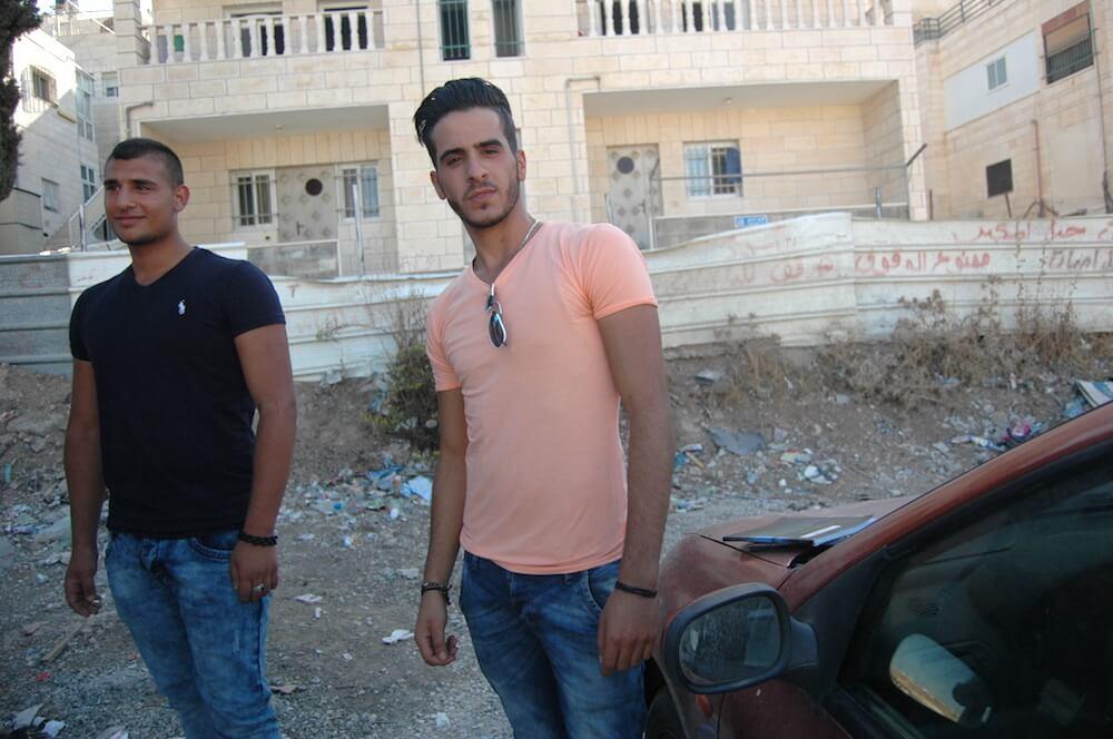 (R) Mohammed Ashqir, 18, and Ahmed Kamwer, 18 in Jabel Mukaber, East Jerusalem. (Photo: Allison Deger)