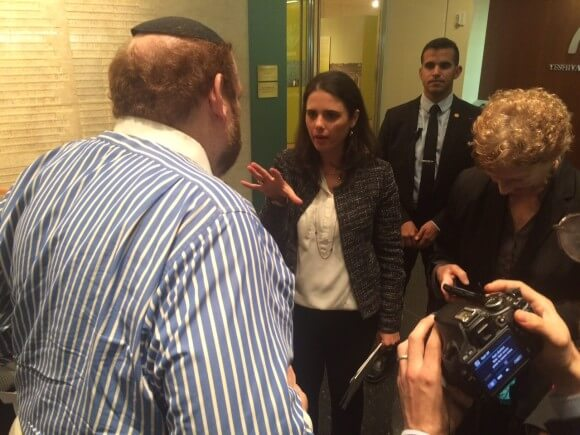 Justice Minister Ayelet Shaked in New York, photo by Robert Bryan