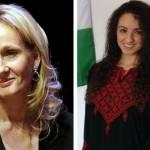 J.K.Rowling (left) Mia Oudeh (right)