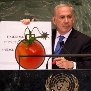 Netanyahu at the U.N., a variation by Dan Rice